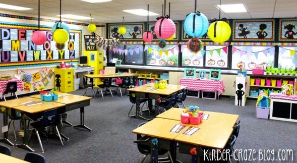 bright kindergarten classroom