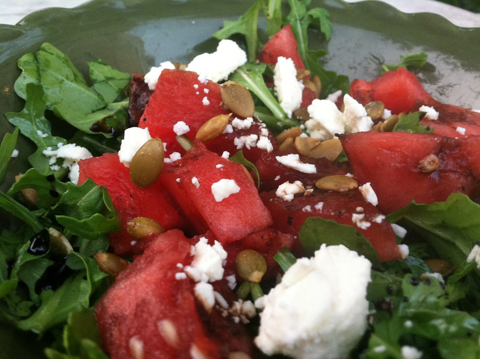 Windy City Beets: Grilled Watermelon, Feta, Arugula Salad with Fig ...