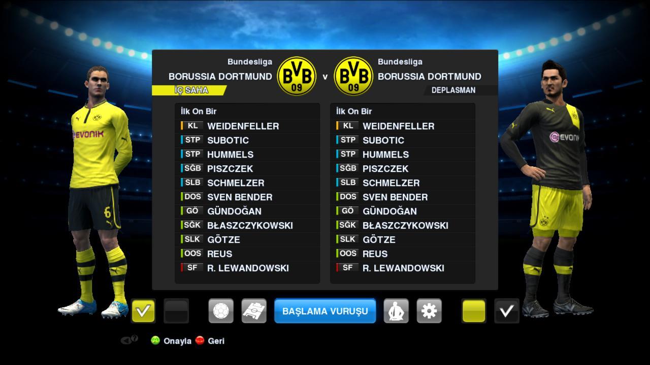Biliğimiz üzere pes 13 'te Borissia Dortmund takımı yok. Fakat bu