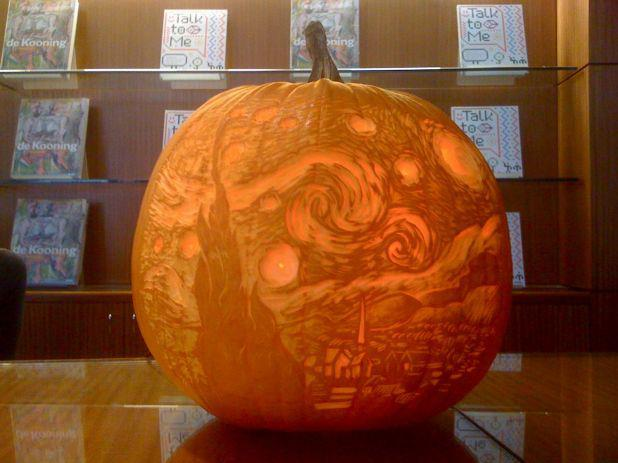 Museum of Modern Art, Starry Night, Halloween pumpkin