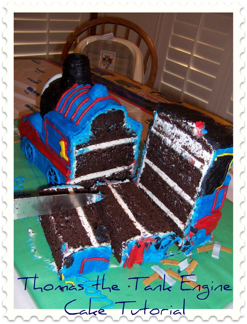Thomas The Tank Engine Cake Tutorial Final Step