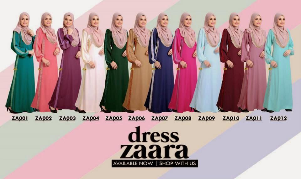 Dress Zara Dengan MAterial Satin Mewah Sangat Menawan Dengan Corak Exclusive Di Tangan