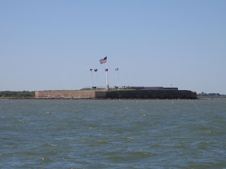 Fort Sumter guards the entrance to Charleston Harbor