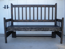arts and crafts bench...SOLD