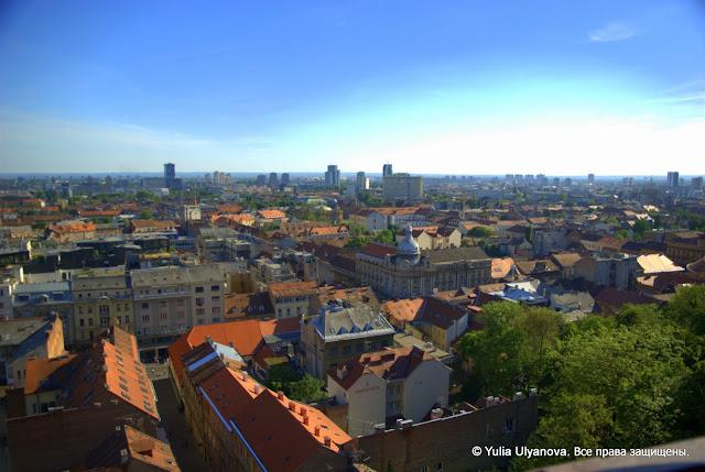 Вид на Загреб из Верхнего града, Хорватия
