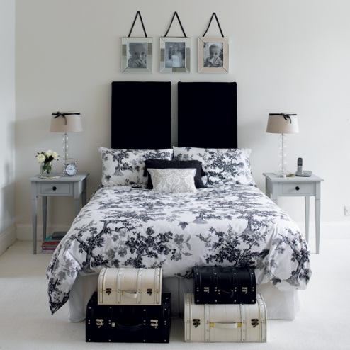 designs small bedroom decorating the combination black and white