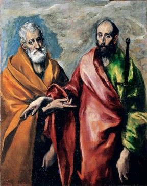 San Pedro y San Pablo del Greco, artista de origen griego.