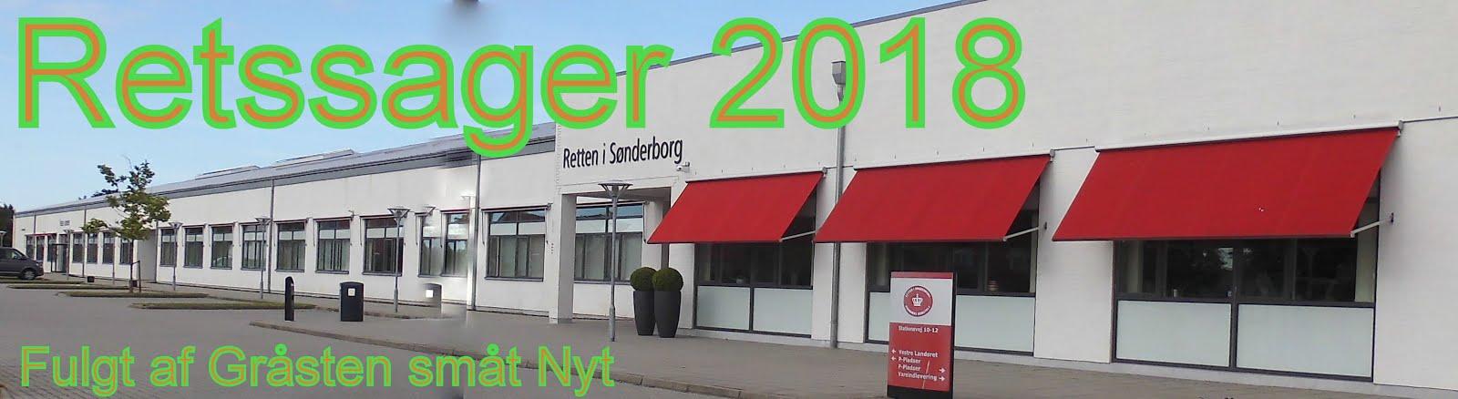Retssager  som er fulgt af Gråsten småt Nyt ved retten i Sønderborg i 2018-19  (klik på billede)