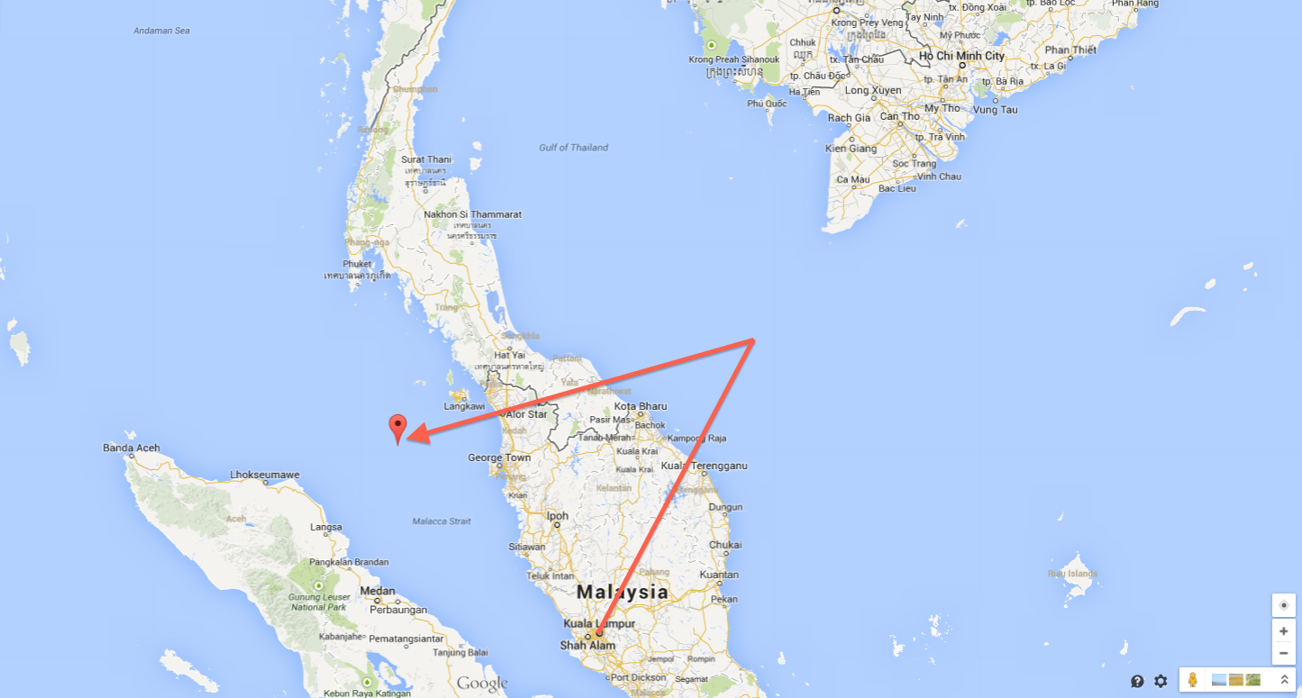 route mh370, diego garcia