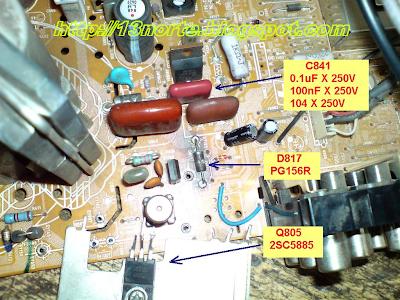 Salida horizontal Sony KV-21FS140