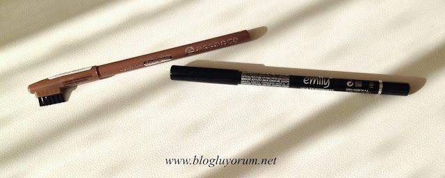Essence kaş kalemi ve Golden Rose Emily göz kalemi
