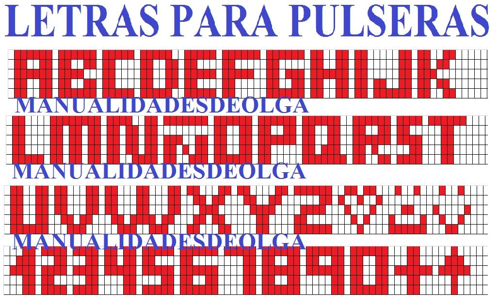 imagenes de letras para hacer pulseras - Juegos Pasarela Juguettos