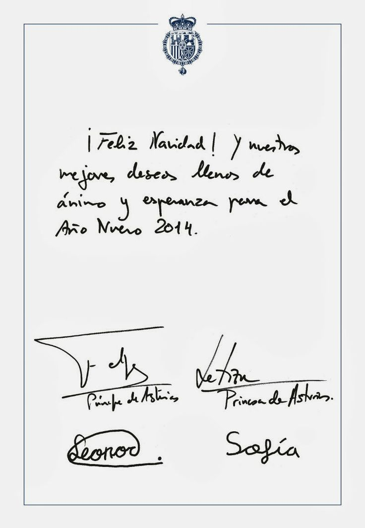 Spanish Royal Family Christmas Cards 2013 | NEWMYROYALS ...
