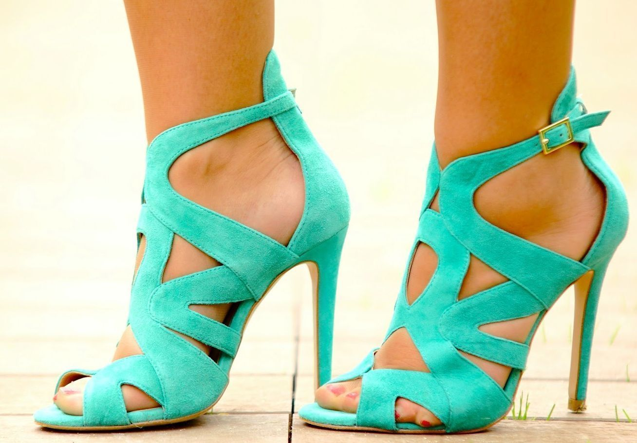 Zara Sold Out 2013 Green Suede Strappy Gladiator Sandals