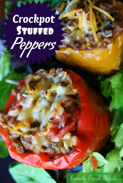 Crockpot Stuffed Bell Peppers