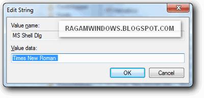 Merubah font windows