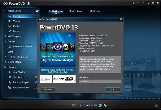 Cyberlink PowerDVD Ultra 3D 13.0.2720.57 incl crack