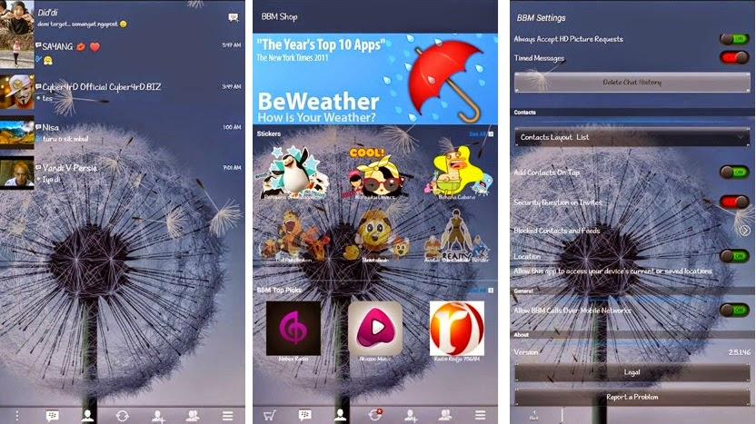 Download BBM-ID Multi Themes Change Background dan Transparan Versi 2.5.1.46