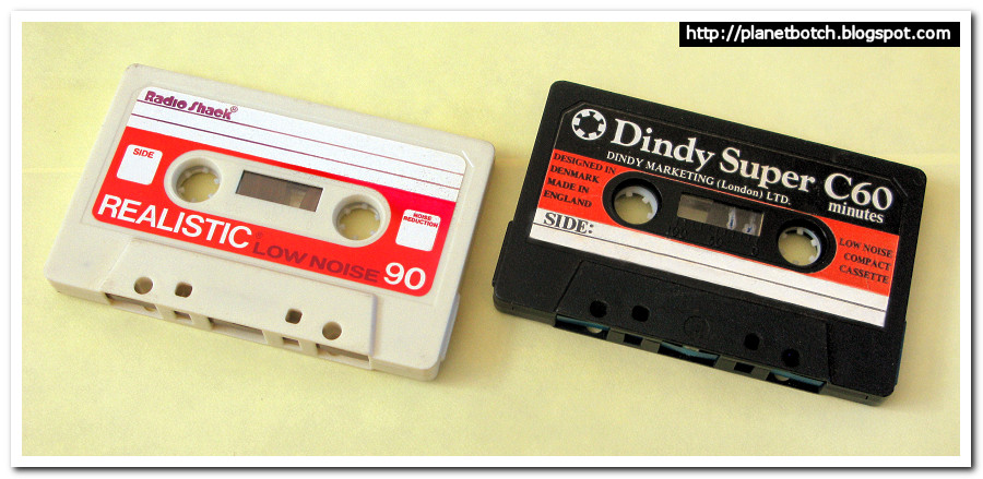 Realistic Low Noise audio cassette and Dindy Super audio cassette