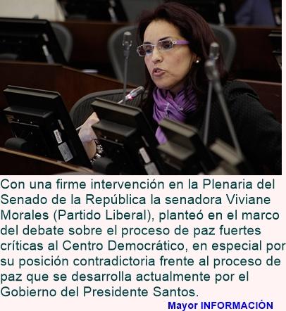 """COLOMBIA: Viviane Morales.: """"Las FFMM , a mí me motivan para la paz"""""""