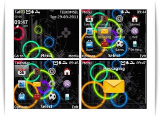 Circle theme 320 x240 Nokia C3-00 X2-01 Asha 302