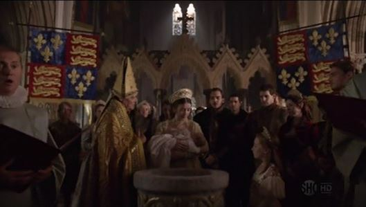 Baptism of Prince Edward The Tudors Episode 4 of Season 3