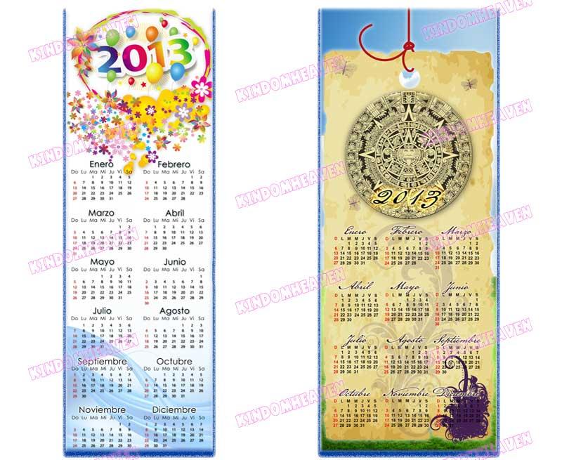 calendarios 2013 psd png poster