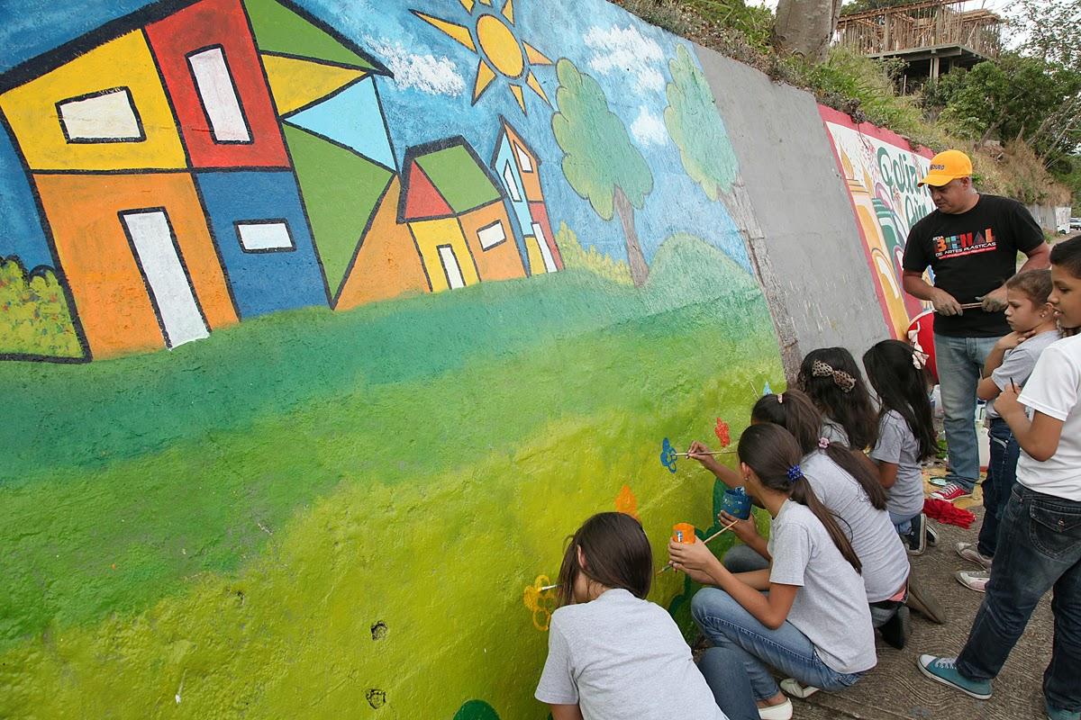 Niños y niñas pintan muros como expresión artística ~ El Comunitario ...
