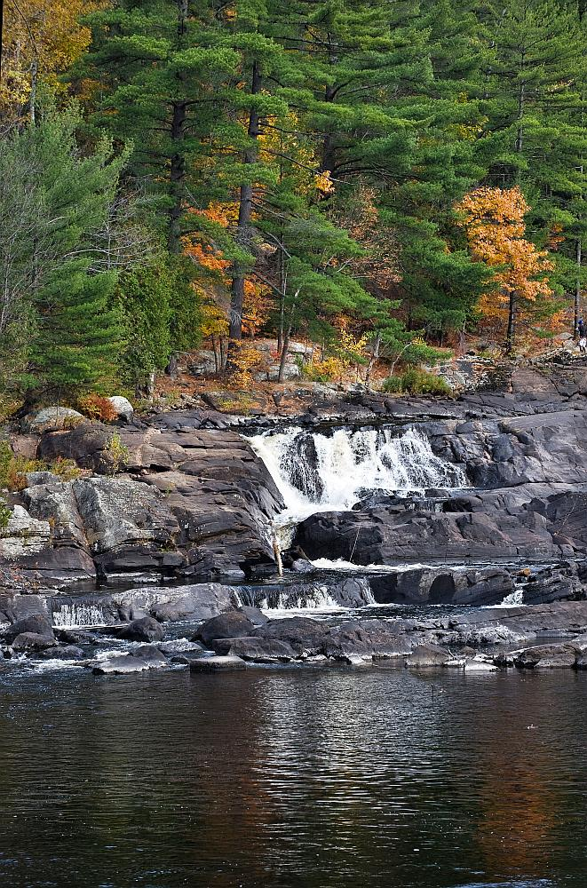 The lower stepped falls at Wilson's Falls.