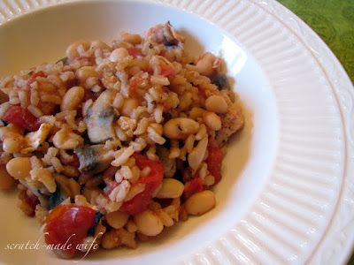 healthy white beans and rice