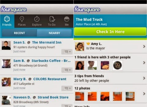 Foursquare Android Apk resimi