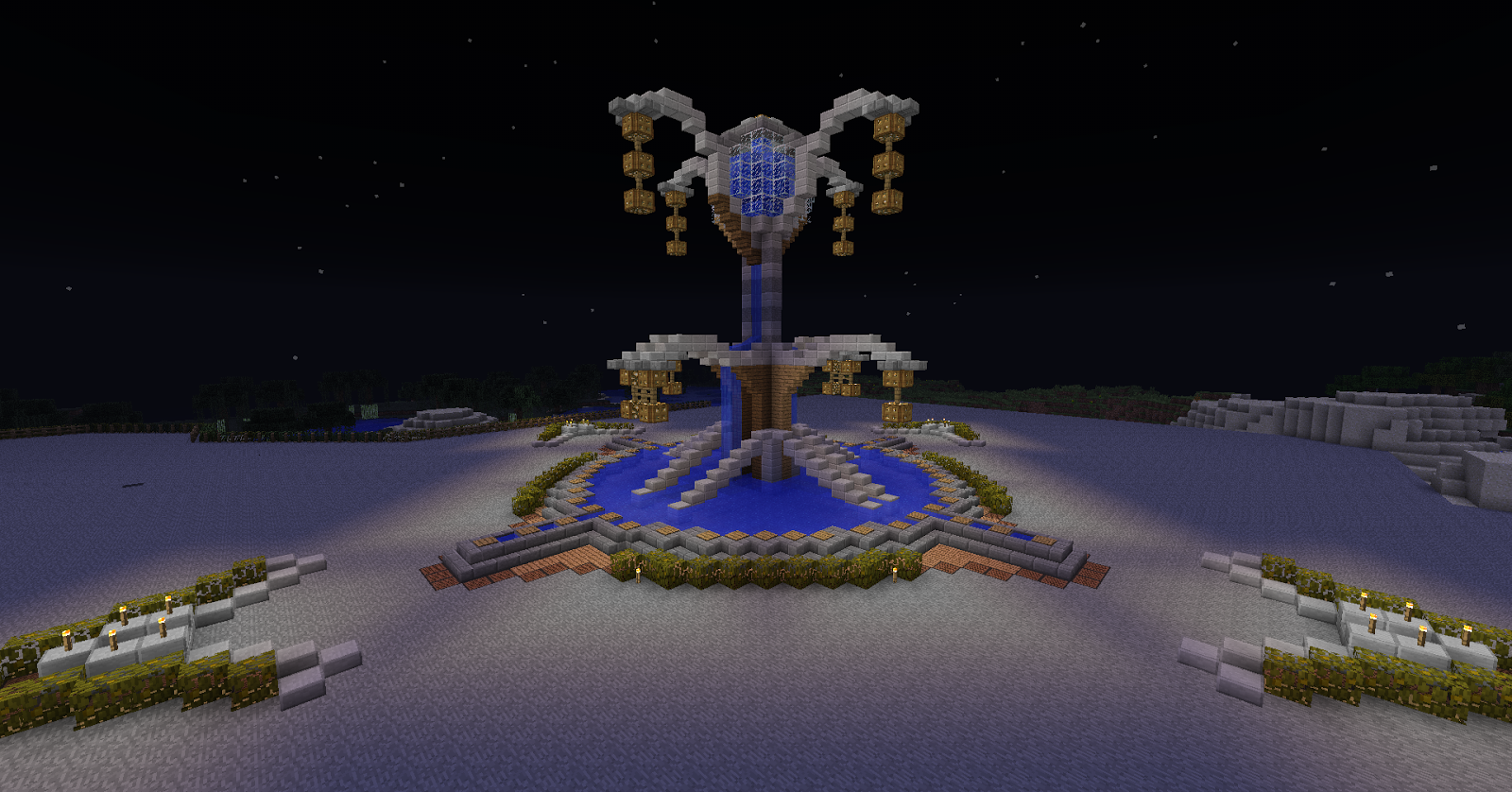fontaine minecraft lampion