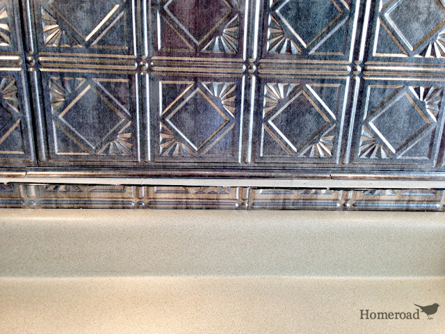 tin ceiling backsplash www.homeroad.net
