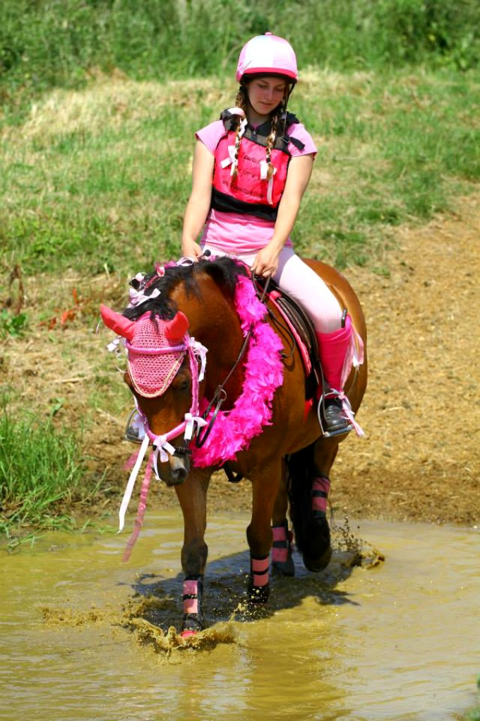 Canter for a Cure Water Jump
