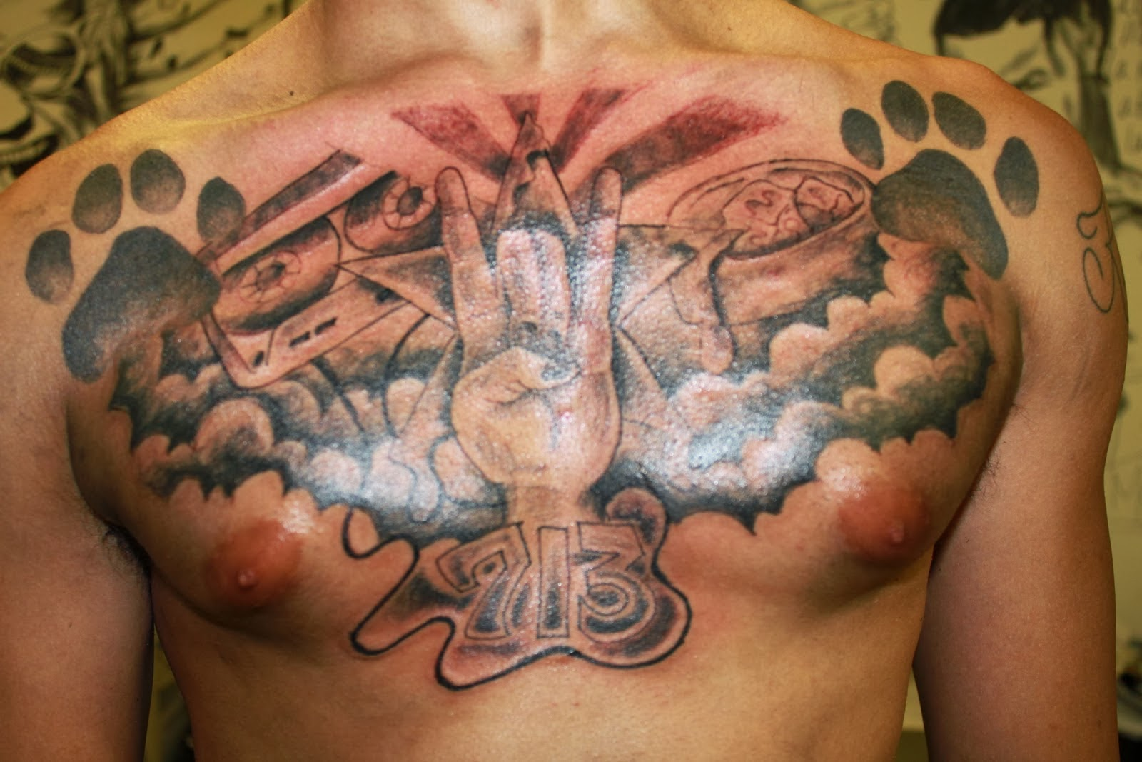 Religious chest tattoo for Religious chest tattoos