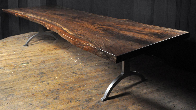Attirant Dorset Custom Furniture   A Woodworkers Photo Journal: A Claro Walnut Slab  Table ... 1st Of 2016