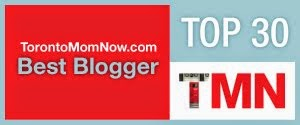Winner of the 2014 Top 30 Toronto Mom Bloggers