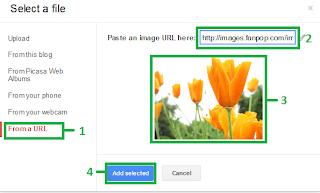 Upload gambar dari situs/URL ke blog