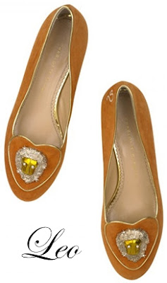 Charlotte Olympia Leo Suede Flats Cosmic Collection