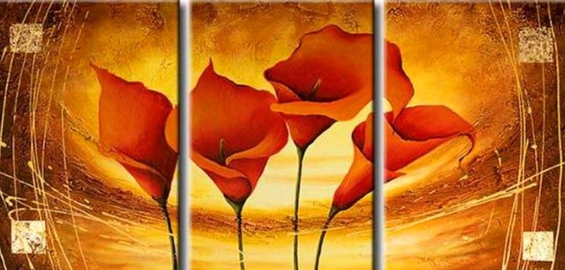 Pinturas cuadros lienzos tripticos pinturas for Cuadros al oleo modernos para comedor
