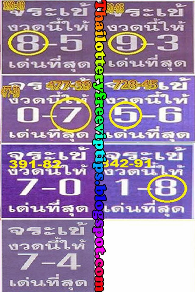 Thai Lotto Hot Touch Tip Paper 01-09-2014
