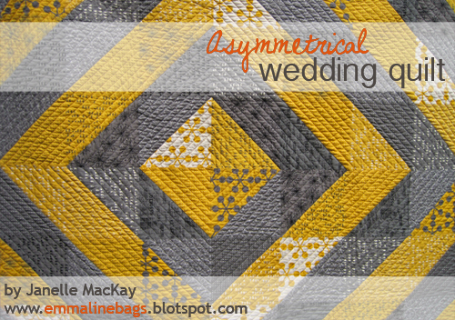 A Comma Quilt Finish An Asymmetrical Wedding