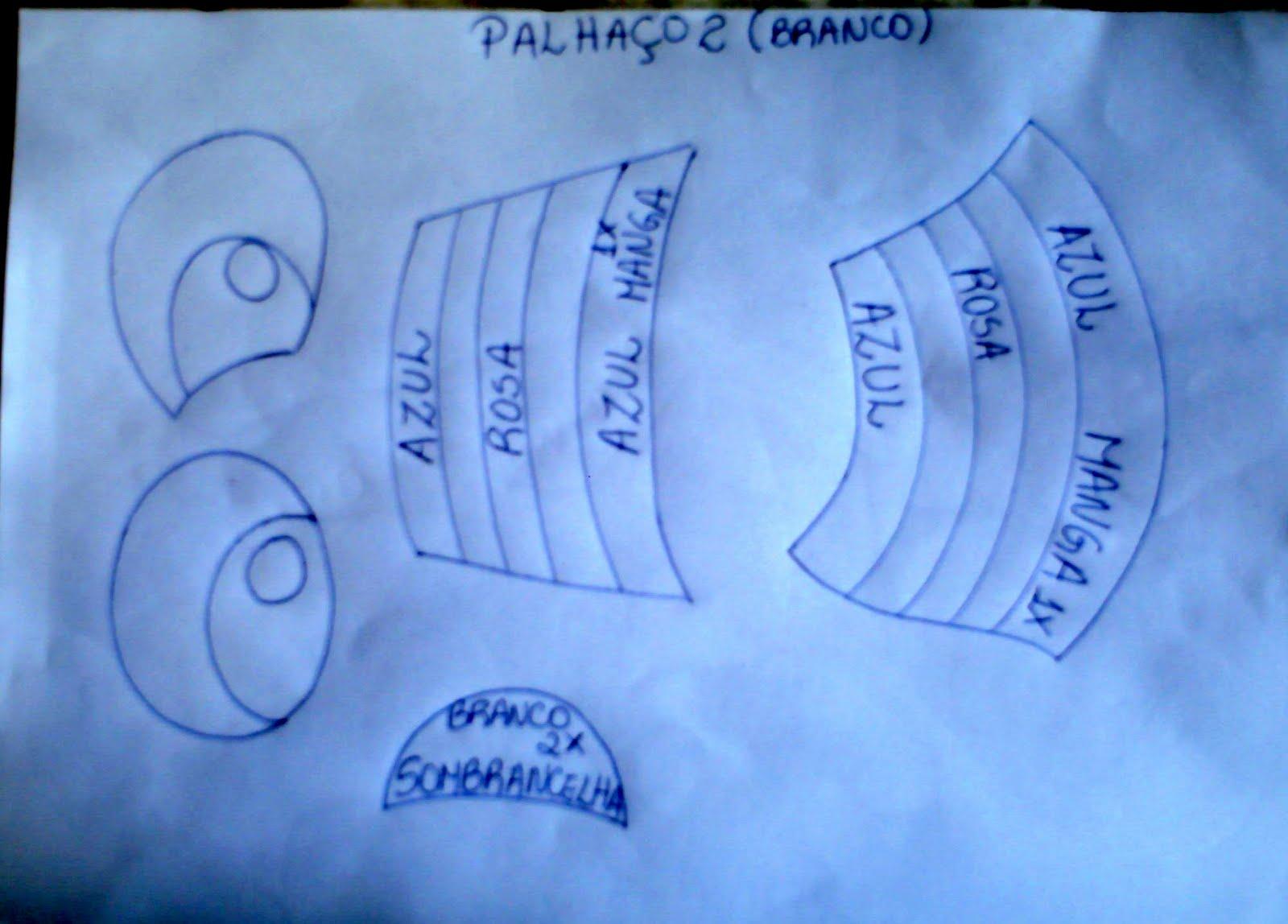 Patati e Patatá EVA com molde - Achei na Net