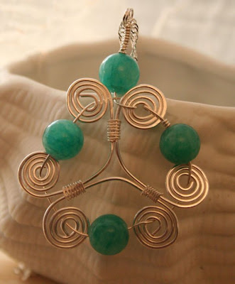 Scroll pendant (jade, sterling silver) :: All Pretty Things