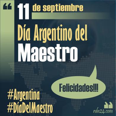 11 de septiembre #DíaDelMaestro argentino #Argentina