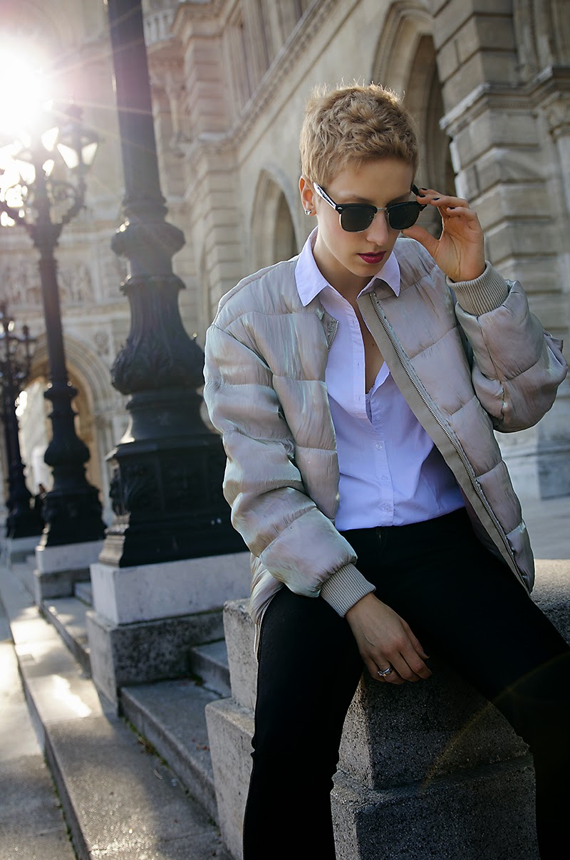metallic bomber jacket h&m trend beeswonderland