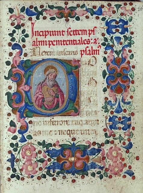 Início Salmos Penitenciais, Plimpton MS 037