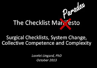 The Checklist Paradox, by Lorelei Lingard