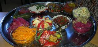 uzbekistan vegetarian platter, uzbekistan texiles craft tours