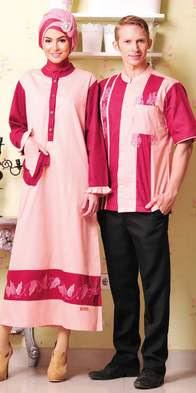 Contoh Desain Busana Muslim Couple Lebaran Modis